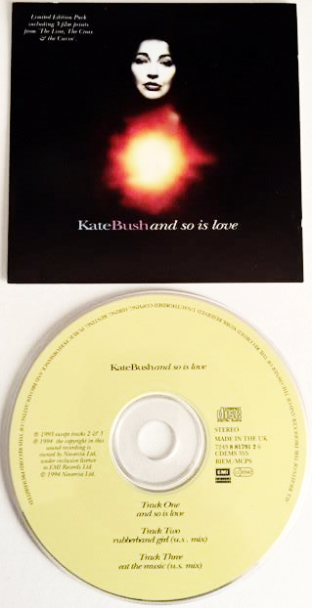 Kate Bush ‎- And So Is Love (CD Single Pt 2) (VG/VG)